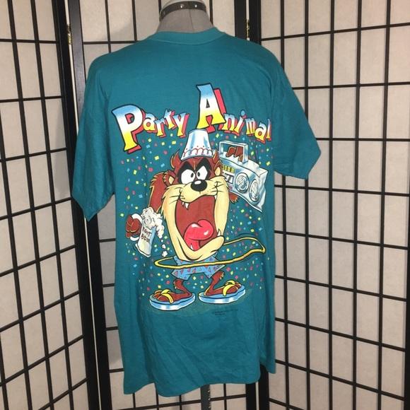 8c1a2b46c Vintage Shirts | 1989 Taz Party Animal T Shirt | Poshmark